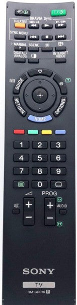 LCD/LED TV Remote Control RM-GD016 / RMGD016 Sony
