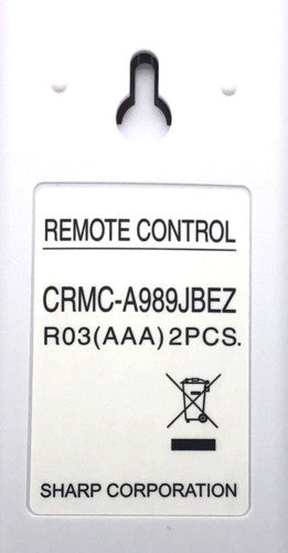 Remote Control Air Con CRMC-A989JBEZ / CRMCA989JBEZ Sharp