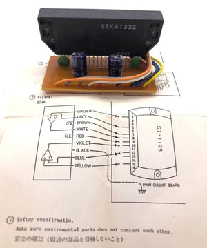 Audio Amplifier Hybrid IC's SI1125 / SI1125HD  Modification Kit