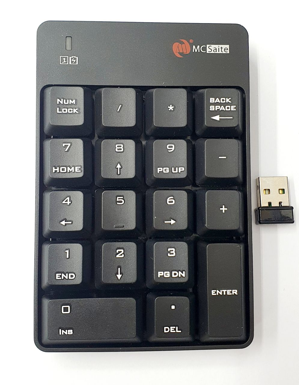2.4G Wireless Numeric Keypad SK-51AG BLACK/ 18 keys Number Pad Mcsaite