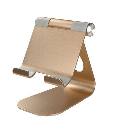 Tablet / Phone Holder Aluminum Big Gold