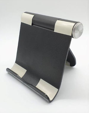 Aluminium Foldable Tablet Holder/Stand Black / Silver