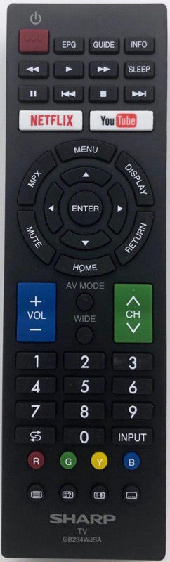 LED/LCD TV Remote Control GB234WJSA (Netflix/Youtube) Sharp