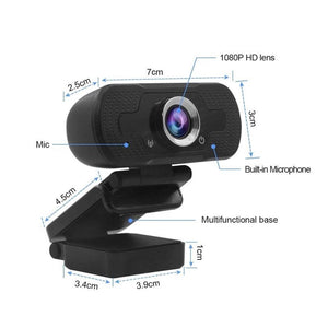 Full HD USB Webcam 1080P Black Model: ZB201-XM-2