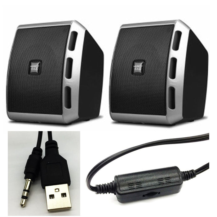 USB Speaker V27 Desktop Notebook 3.5mm Jack
