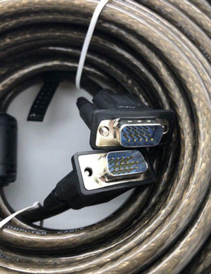 VGA to VGA Cable 20M - Male/Male (Filter Coiled) DV20