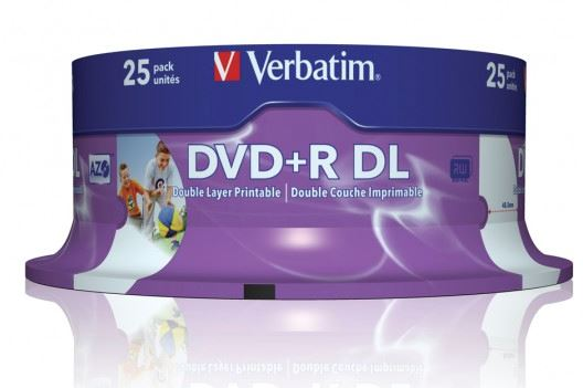 Verbatim DVD+R DL 8x 8.5Gb 25pcs #43667