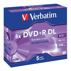 Verbatim DVD+R DL 8x 8.5Gb 5pcs #43541 with Jewel Case