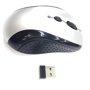 OEM Wireless Mouse 2.4Ghz YR802 Silver (Up to 10 Meter Range)