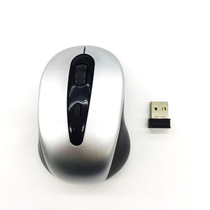 OEM Wireless Mouse 2.4Ghz YR803 Silver (Up to 10 Meter Range)