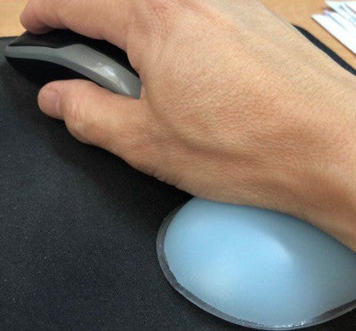 Ergonomic Silica Gel Wrist Rest , Support Mouse Pad Blue