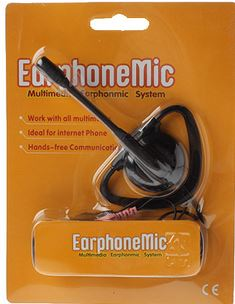 Earphone with Microphone 2x 3.5mm Audio Plug XTY-8 single sided