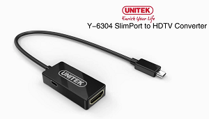 Unitek Slim Port To HDMI HDTV Converter 15cm Y6304