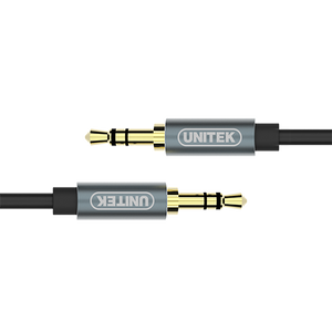 Unitek Y-C926Abk 1meter Dc 3.5mm Male To Dc 3.5mm Male Audio Black Cable (YC926)