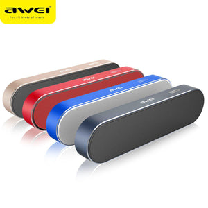 Awei Speaker Bluetooth Wireless Built-in Microphone Y220 (Blue and Red)