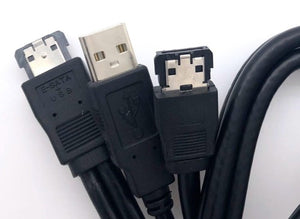 Cable Esata to Esata Female +USB A Male 1Meter YC302 Unitek- Clearance Price!