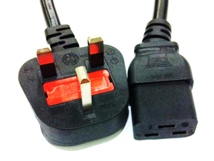 Power Cord 3Pin UK to C19 Female 1.8Meter