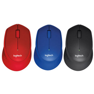 Logitech M331 Wireless Silent Mouse Black / Blue/ Red
