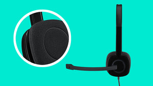 Logitech Stereo Headset H151 Black 1yr warranty