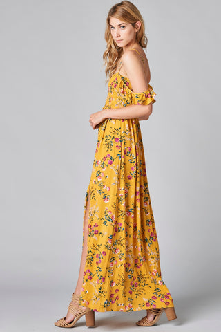 Yellow Floral Maxi