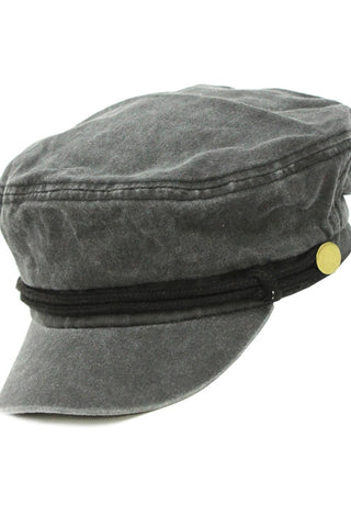 Gray Cabby Hat