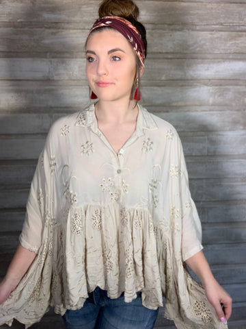 Vintage Modern Collared Blouse