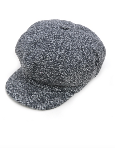 Gray Baker Boy Hat