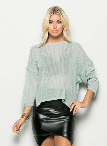 Mint Slouchy Sweater