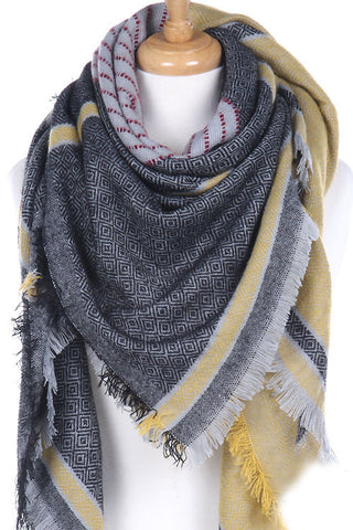 Black and Yellow Blanket Scarf