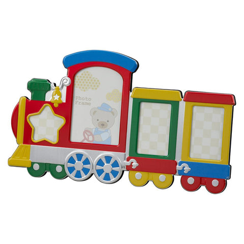 Multi Color Train Photo Frame