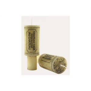 Wine Cork Candle Set of 2