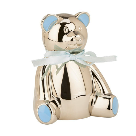 Blue Highlight Teddy Bear Bank