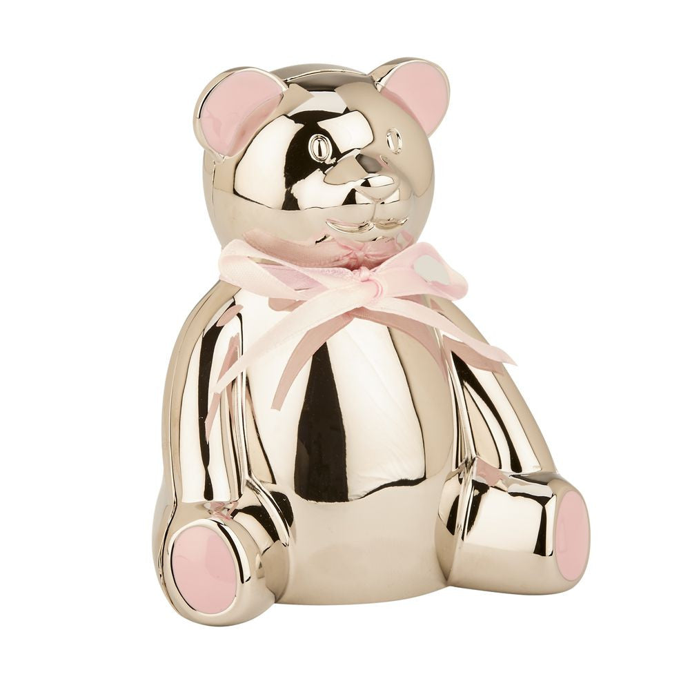 Pink Highlight Teddy Bear Bank