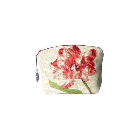 Purse Red Tulips with White Background