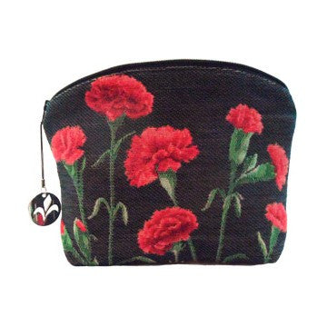 Purse Carnations black background