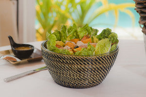 Calaisio Salad Bowl Includes Round Glass Bowl