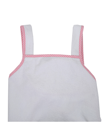 Pink Gingham Cuddle Dry Bath Apron Mom