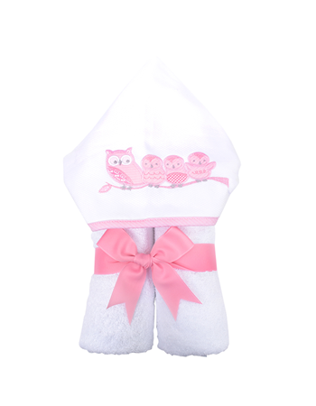 Pink Owl Everykid Towel