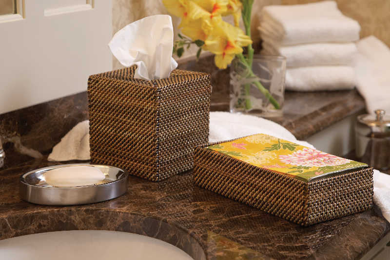 Rectangular Guest Towel Holder