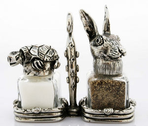 Tortoise and Hare Salt and Pepper Set