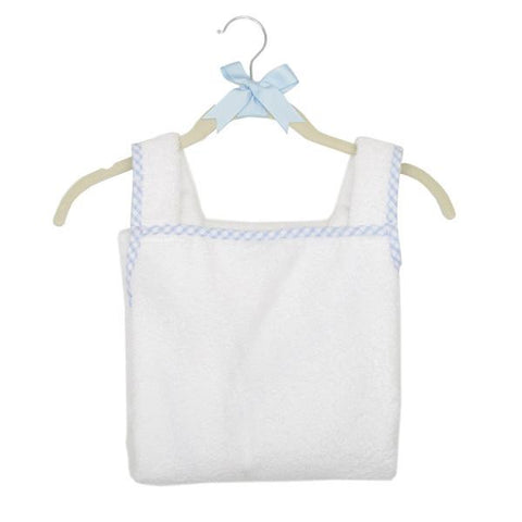 Blue Gingham Cuddle Dry Bath Apron Dad