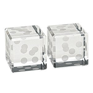 Pair Hand Cut Crystal Dice