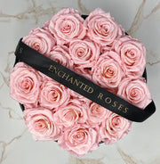 Medium Classic Black Round Box - Sakura Roses