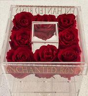 Allure Collection Acrylic Makeup Box - Red Roses
