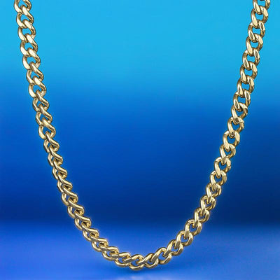 5.5mm 14K Gold & White Gold Miami Cuban Link Curb Chain for Men