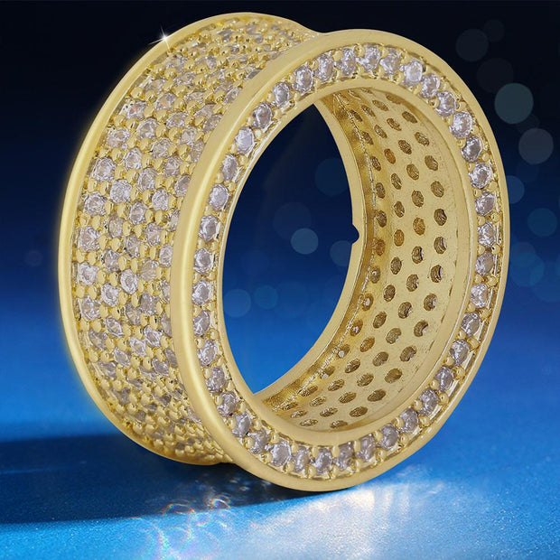 Iced Infinity Ring in 14K Gold