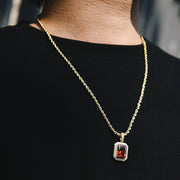 Ruby Gemstone Pendant in 14k Gold