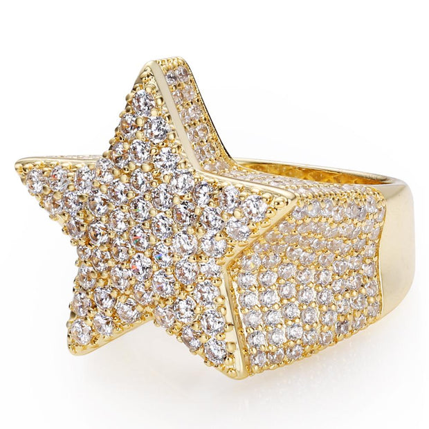 Five-Pointed Star Ring in 14K Gold (Upgraded Version)