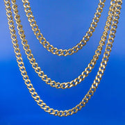 5.5mm 14K Gold & White Gold Miami Cuban Link Curb Chain set