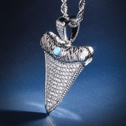 Shark Tooth Pendant in White Gold (Upgraded Version)